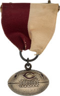 """Football Collectibles:Others, 1935 Jay Berwanger """"Chicago Tribune Most Valuable Player Award"""" Gold Pendant - Berwanger Collection. ..."""