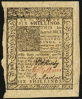 Colonial Notes:Delaware, Delaware January 1, 1776 6s Choice New.. ...