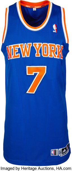 sale retailer aacb7 9132a 2013 Carmelo Anthony Game Worn New York Knicks Jersey - Used ...