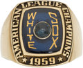 Baseball Collectibles:Others, 1959 Chicago White Sox American League Champions Ring Presented to Al Smith. ...