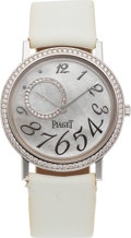 Timepieces:Wristwatch, Piaget, Altiplano Ultra Thin, 18K White Gold and Diamond, Ref.GOA31106, Circa 2010s. ...