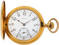 Timepieces:Pocket (pre 1900) , Tiffany & Co. Heavy 18k Gold 52 mm Hunters Case. ...