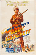 "Movie Posters:Western, Davy Crockett, King of the Wild Frontier (Buena Vista, 1955).Folded, Fine/Very Fine. One Sheet (27"" X 41""). Western.. ..."