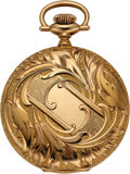 Timepieces:Pocket (post 1900), Elgin Choice 14k Gold 16 Size Hunter With Chain. ...
