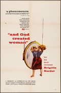 "Movie Posters:Foreign, And God Created Woman (Cocinor, 1956). Folded, Very Fine-. One Sheet (27"" X 41""). Foreign.. ..."
