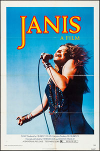 """Janis (Universal, 1975). Folded, Very Fine. One Sheet (27"""" X 41"""") Jim Marshall Photography. Rock and Roll"""