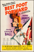 """Movie Posters:Musical, Best Foot Forward (MGM, 1943) Folded, Very Fine. One Sheet (27"""" X 41"""") Style C, Jacques Kapralik Artwork. Musical...."""