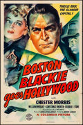 "Movie Posters:Crime, Boston Blackie Goes Hollywood (Columbia, 1942). One Sheet (27"" X41""). Crime.. ..."