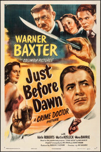 "Just before Dawn (Columbia, 1946) Folded, Very Fine-. One Sheet (27"" X 41""). Mystery"