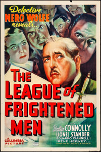 """The League of Frightened Men (Columbia, 1937). One Sheet (27"""" X 41""""). Mystery"""