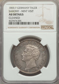 German States:Saxony, German States: Saxony. Johann Taler 1855-F AU Details (Cleaned) NGC,...