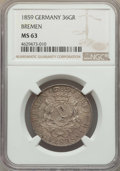 German States:Bremen, German States: Bremen. Free City 36 Grote 1859 MS63 NGC,...