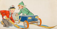 Earl Oliver Hurst (American, 1895-1958) Soapbox Sled, 1953 Watercolor on paper 16 x 30 in. (sheet