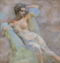 Other, Edwin Georgi (American, 1896-1964). Nude. Mixed media on board. 22.5 x 20.75 in. (image). Signed by artist's son on the ...
