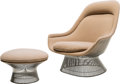 Furniture : American, Warren Platner (American, 1919-2006). Lounge Chair andOttoman, designed 1966, produced 1980, Knoll. Chrome-platedsteel... (Total: 2 Items)