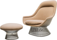 Warren Platner (American, 1919-2006) Lounge Chair and Ottoman, designed 1966, produced 1980, Knoll C