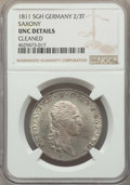 German States:Saxony, German States: Saxony. Pair of Certified Friedrich August I Issues NGC,... (Total: 2 coins)