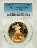 2007-W $50 One-Ounce Gold Eagle PR68 Deep Cameo PCGS. PCGS Population: (9/1984). NGC Census: (5/2992). Mintage 51,810...