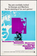 """Movie Posters:Drama, Who's Afraid of Virginia Woolf? (Warner Brothers, 1966). One Sheet(27"""" X 41""""). Drama.. ..."""