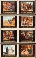 "Movie Posters:Western, The Lone Ranger (Warner Brothers, 1956). Lobby Card Set of 8 (11"" X 14""). Western.. ... (Total: 8 Items)"