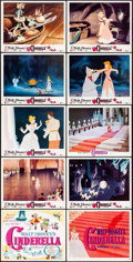 "Movie Posters:Animation, Cinderella (Buena Vista, R-1957 & R-1973). Title Lobby Cards(2) & Lobby Cards (8) (11"" X 14""). Animation.. ... (Total: 10Items)"