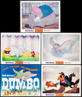 """Movie Posters:Animation, Dumbo (Buena Vista, R-1972). Lobby Card Set of 5 (11"""" X 14"""").Animation.. ... (Total: 5 Items)"""