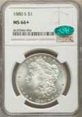 Morgan Dollars, 1880-S $1 MS66+ NGC. CAC. NGC Census: (11743/3500). PCGS Population: (11159/2505). MS66. Mintage 8,900,000....