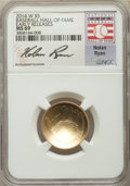 Modern Issues, 2014-W $5 Baseball Hall of Fame Gold Five Dollar, Early Releases, Nolan Ryan Signature, MS69 NGC. PCGS P...