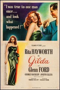 "Gilda (Columbia, 1946). One Sheet (27"" X 41"") Style A. Film Noir"