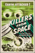 "Movie Posters:Science Fiction, Killers from Space (RKO, 1954). One Sheet (27"" X 41"") Style A. Science Fiction.. ..."