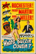 "Movie Posters:Musical, What's Buzzin' Cousin? (Columbia, 1943). One Sheet (27"" X 41"").Musical.. ..."