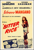 """Movie Posters:Foreign, Bitter Rice (Lux Film, 1950). One Sheet (28.25"""" X 42""""). Foreign.. ..."""