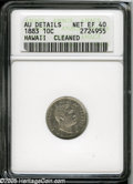 Coins of Hawaii: , 1883 10C Hawaii Ten Cents XF40 ANACS.--Cleaned--AU Details...