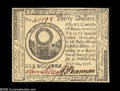 Colonial Notes:Continental Congress Issues, Continental Currency July 22, 1776 $30 Gem New. This issue,particularly in high grade, is extremely scarce and highly under...