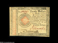 Colonial Notes:Continental Congress Issues, Continental Congress Issue January 14, 1779 $20 ExtremelyFine-About New....