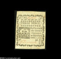 Colonial Notes:Connecticut, Connecticut October 11, 1777 3d Choice New. An uncancelled piece printed on blue paper, this issue is seldom seen without a ...