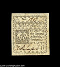 Colonial Notes:Connecticut, Connecticut October 11, 1777 7d Gem New. Beautifully margined witha strong signature and none of the stains that so often p...