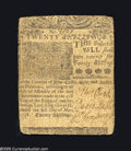 Colonial Notes:Delaware, Delaware May 1, 1758 20s Very Fine. But for edge splits at thecenter fold which have been professionally strengthened, this...