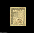 Colonial Notes:Delaware, Delaware January 1, 1776 1s About New. A nicely margined note with a single center fold visible mostly from the back....