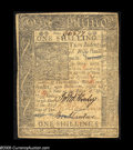 Colonial Notes:Delaware, Delaware January 1, 1776 1s Extremely Fine. Moderately circulatedbut problem-free....