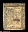 Colonial Notes:Delaware, Delaware January 1, 1776 18d About New. A single light horizontalcenter fold....