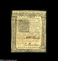 Colonial Notes:Delaware, Delaware January 1, 1776 2s6d Choice About New. Thispleasing-looking Delaware note has a single light horizontalfold....