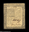 Colonial Notes:Delaware, Delaware January 1, 1776 2s6d Extremely Fine. Closely margined butproblem-free....