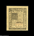 Colonial Notes:Delaware, Delaware January 1, 1776 5s Superb Gem New. A hugely marginedbeauty, well-printed, well-centered, strictly original and utt...