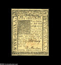 Colonial Notes:Delaware, Delaware January 1, 1776 5s Very Choice New. The margins are quiteclose all around but never touch the design. The printing...