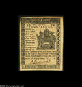 Colonial Notes:Delaware, Delaware May 1, 1777 4d New. This Small Change note from a scarcerDelaware issue is a perfect Gem but for a stain across th...