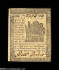 Colonial Notes:Delaware, Delaware May 1, 1777 6d Extremely Fine-About New. An extremelyattractive example of this issue, a note that is only mildly ...