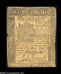 Colonial Notes:Delaware, Delaware May 1, 1777 1s Very Fine. Moderately circulated butproblem-free. A scarcer issue....