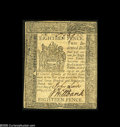 Colonial Notes:Delaware, Delaware May 1, 1777 18d About New. An ideal example for the grade,separated from Choice New by a light horizontal fold on...