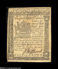 Colonial Notes:Delaware, Delaware May 1, 1777 2s/6d Choice About New. Well-signed and verywell-printed, this 1777 issue is far scarcer than the 1776...